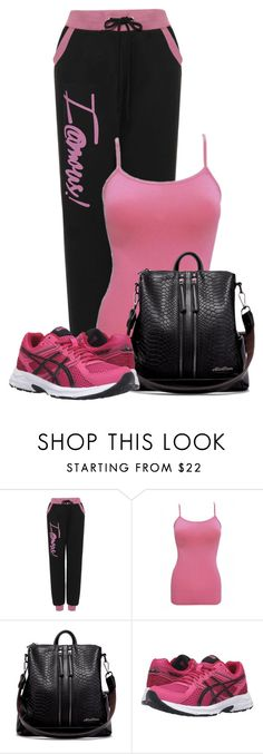 """""""Untitled #20565"""" by nanette-253 ❤ liked on Polyvore featuring WearAll, WithChic and Asics"""