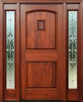 Mahogany Exterior Doors with Sidelights pre-finished