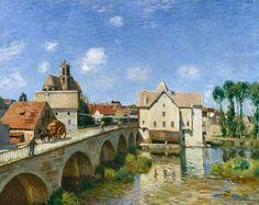 """Alfred Sisley - """"El puente de Moret"""""""