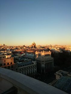 Sun going down in Madrid