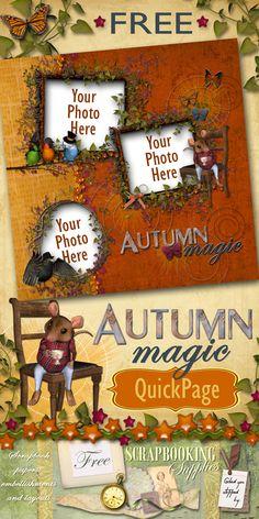#FREE Digital Autumn Magic Scrapbook Quickpage
