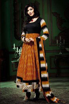 Put your best traditional look forward by wearing this anarkali salwar Kameez suit from Aishwarya design studio.  This set comprises Salwar Kameez kurta,Salwar Kameez dupatta and Salwar Kameez chudidar.