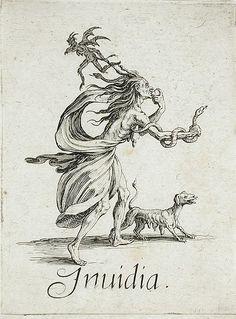 circa 1621,The Seven Deadly Sins:Lust. Jacques Callot(France,Nancy,1592-1635). Los Angeles County Museum of Art.7 смертных грехов.Вожделение.