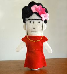 Frida Kahlo Felt Finger Puppet | Gifts Babies & Kids | abbeychristine | Scoutmob Shoppe | Product Detail