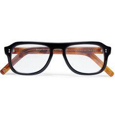 Kingsman Cutler and Gross Tortoiseshell Acetate Square-Frame Optical Glasses