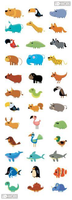 animal (vector) icon...@Loogan采集到Illustration(273图)_花瓣插画/漫画