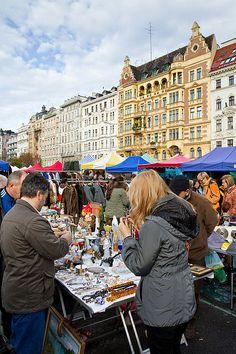 Flohmarkt next to the Naschmarkt - Vienna, Austria