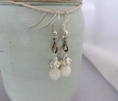 Sophisticated Victorian Style Bridal Earrings by YoursTrulli, $15.00