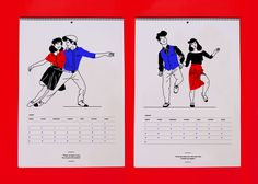 The Lindy Hop Calendar 2016 *Twelve reasons to dance every day of this year*Limited edition of 50, printed on 250 gr mate paper, 420 x 297 mm.Conctact me if you are interested in one print!