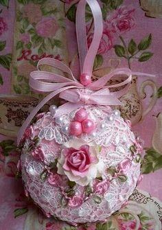 Pink love ornament