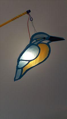 Kingfisher lantern, IJsvogel lampion, Sint Maarten, sintmaarten, stmaarten, 11november Magic Light, Kids And Parenting, Techno, November, Christmas Decorations, Paper Crafts, Halloween, Handmade, Diy