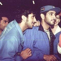 Rashid bin Mohammed y su hermano Hamdan bin Mohammed bin Rashid Al-Maktoum