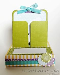 Free standing popup card tutorial by Scrappy Canuck