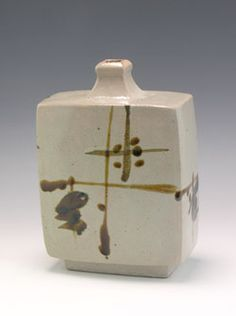 Shoji Hamada (1894-1978) press moulded bottle, decorated in distinctive brush work