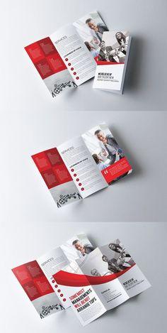 an idea of a tri-fold. 3 Fold Brochure, Brochure Layout, Business Brochure, Brochure Template, Business Card Design, Corporate Brochure, Card Templates, Creative Business, Banner Design Inspiration