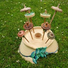 """Handturned and decorated spindles Felt.co.nz read the article """"Meet the maker"""" Whimsy Wood and Wool, Christchurch, New Zealand."""