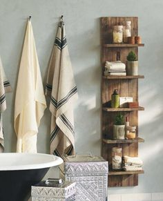Can use timber from around the farm to build this for the bathroom.