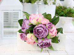 Bukiet peonia róż fiolet (3101) - Galeria Mercatino