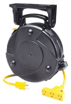 Alert Stamping 8050MP 50-Foot Cord Reel with Circuit Breaker by Alert Stamping. $92.56. From the Manufacturer                Heavy-Duty Retractable Cord Reel.   Cord pulls out of reel to desired length; locks and automatically retracts with slight tug on cord. Indjustrial type reel is constructed with high impact resistant thermoplastic for rugged service.  Can be mounted on ceiling or wall. 125 Volt-50 foot 14/3 SJTW-A cord with Tri-Tap and circuit breaker.       ...