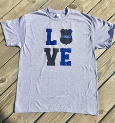 police wife tee for me! #thinblueline #support #workout #ad