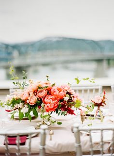 Lush floral centerpiece: http://www.stylemepretty.com/little-black-book-blog/2014/12/05/modern-art-inspired-styled-wedding-shoot/ | Photography: Bamber - http://www.bamberphotography.com/