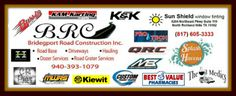 2014 BRC Race of Champions Sponsors.  We thank you very much! #theoilmedics #K&KRaceservices #SplashHavenPools #MBMotorsports #kewit #CustomPowderCoating #CRpics #ProTech #SunShieldWindowTint #BridgeportRoadConstruction
