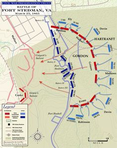 battle of fort stedman the union counterattack gettysburg battlefieldhistorical mapscivil war photosamerican