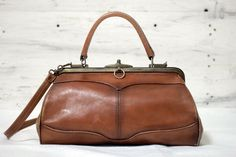 French Leather Doctor's Bag.