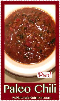 Easy Paleo Chili, By www.aunaturalenutrition.com