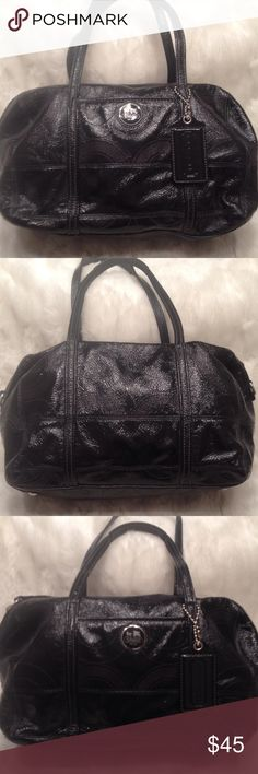 COACH Patent Leather Satchel COACH#L0993-14799. In good shape. Liner Just need a little bit of cleaning. No scuffs. Measures 9x14 Coach Bags Satchels