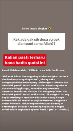 Quotes Rindu, Pray Quotes, Hadith Quotes, Message Quotes, Reminder Quotes, Self Reminder, Muslim Quotes, Mood Quotes, Life Quotes