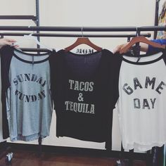 I don't know about y'all  but these shirts speak to me  . We're opening a lil later today at 1pm since we're on the west coast picking out fun new arrivals we'll see you soon !!