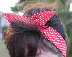 Rosie the Riveter Dolly Bow Wire Headband Red White Polka Dots Halloween Rockabilly Pin Up Hair Accessory for Teens Women Girls by Lorettajos on Etsy https://www.etsy.com/listing/217359582/rosie-the-riveter-dolly-bow-wire