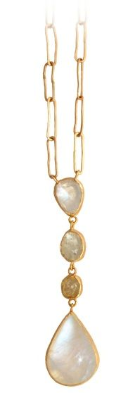 Margery Hirschey ~ 18k gold, moonstone, sapphire and diamond