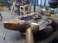 Giant Tortoise by Jeremy Maronpot -copper fabrication, repousse & chasing