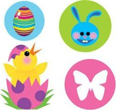 Easter tattoo sheet of 4 tattoos - one sheet supplied. www.KidsPartyTime.co.uk