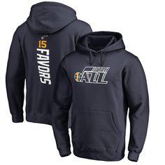 Derrick Favors Utah Jazz Backer Pullover Hoodie - Navy - $64.99