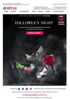 Halloween Night - inspiring newsletter from JustFab