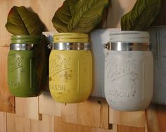 This listing is for three mounted mason jars. The jars are not painted on the inside so you can fill with water if desired. Can be wiped clean with a dry, soft cloth. Do not get wet as paint may peel. The board is painted espresso and give a distressed finish. Can be ordered with or without Hydrangea flowers as shown in photo #5. We offer 6 beautiful flowers to compliment your decor. The colors in this collection are gloss copper, silver and gold. Unique industrial meets rustic! Ready to...