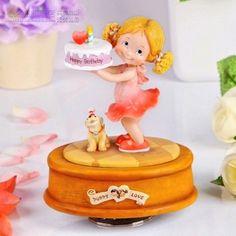Christmas Gifts Little girl birthday cake rotating music box music box birthday…