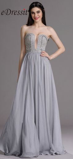eDressit Strapless Evening Dress with Embroidery and Beads