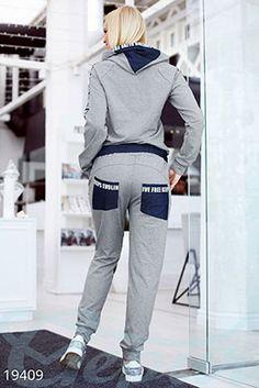 Gepur | Модный спортивный костюм арт. 16106 Цена от производителя, достоверные описание, отзывы, фото , цвет: , цвет: серый, синий