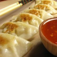 CHICKEN POT STICKERS. Omg these make my mouth water.