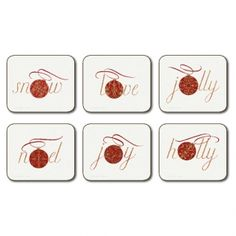 Christmas Spirit Coasters by Jason --- Quick Info: Price £9.95 Add a festive feeling to your coffee table with our Christmas Spirit Coasters by Jason. --- Available from Roman at Home. Images Copyright www.romanathome.com