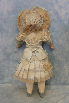 """19"""" E D French BEBE Doll Etienne Denamur Antique Bisque Mohair Wig 1895   eBay"""