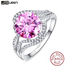 Aliexpress.com : Buy Wholesale 100% 925 silver ring aros Luxury 5 Carat pink topaz ring Wedding Rings for Women anel aneis de diamante female ring from Reliable ring packaging suppliers on JQUEEN 925 Silver Jewelry Store