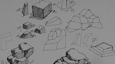 Pen & Ink Drawing Tutorials | How to draw rocks, stones and boulders - YouTube