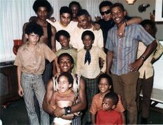 Young Michael Jackson and family