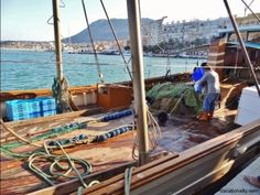 Fisherman boat in the port of Denia, Spain.
