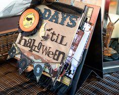 Halloween Mini Scrapbook Album & Halloween countdown calendarThe Polkadot Chair